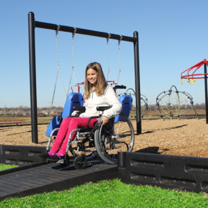 Playground Borders Half Ramp - Wheelchair